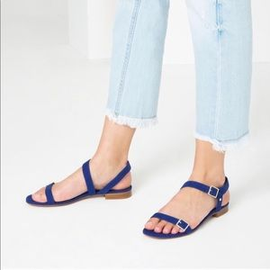 Royal Blue suede sandals